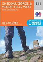 OS Explorer Map (141) Cheddar Gorge and Mendip Hills West