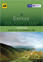 Walkers Map Exmoor