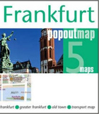 Frankfurt PopOut Map - handy pocket-sized city map of Frankfurt
