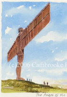 Portrait of Britain, Gateshead - Angel of the North, North East, Framed
